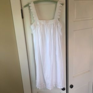 Embroidered cotton gown